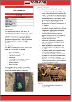 excavation toolbox talk